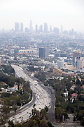 © Licensed to London News Pictures. 09/08/2015. Los Angeles, USA. A view of Downtown Los Angeles. Photo credit : Stephen Simpson/LNP