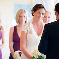 Wedding alongside Lake Washington in Seattle.