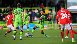 Ebou Adams of Forest Green Rovers comepets with Stuart Sinclair of Walsall- Mandatory by-line: Nizaam Jones/JMP - 08/02/2020 - FOOTBALL - New Lawn Stadium - Nailsworth, England - Forest Green Rovers v Walsall - Sky Bet League Two