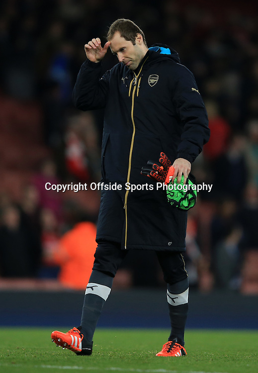 29 September 2015 - UEFA Champions  League (Group F) - Arsenal v Olympiakos - Petr Cech of Arsenal looks dejected after a match which saw his replacement, David Ospina at fault for one of the goal - Photo: Marc Atkins / Offside.