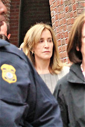 Felicity Huffman leaves Boston Federal court after pleading guilty in relation to charges stemming from the college admission scandal better known as Varsity Blues. 13 May 2019 Pictured: Felicity Huffman. Photo credit: KAT / MEGA TheMegaAgency.com +1 888 505 6342