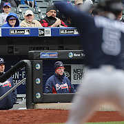 NEW YORK, NEW YORK - MAY 04:  Atlanta Braves Manager Fredi Gonzalez watching play from the dugout during the Atlanta Braves Vs New York Mets MLB regular season game at Citi Field on May 04, 2016 in New York City. (Photo by Tim Clayton/Corbis via Getty Images)