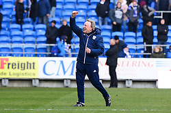 Cardiff City manager Neil Warnock celebrates at the end of the game as Cardiff City beat Bristol City 1-0 - Mandatory by-line: Dougie Allward/JMP - 25/02/2018 -  FOOTBALL - Cardiff City Stadium - Cardiff, Wales -  Cardiff City v Bristol City - Sky Bet Championship