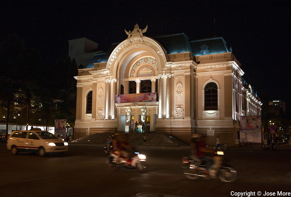 The Opera House in Ho Chi Minh City ( Th&agrave;nh phố Hồ Ch&iacute; Minh ),  formerly named Saigon is the largest city in Vietnam with a population reaching 10 million. Ho Chi Minh City is a contrast of  French colonial, traditional and modern architecture. <br /> Photography by Jose More