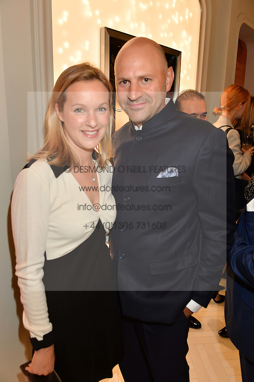 FARHAD HEYDARI and ANNA NASH at the opening of the Nirav Modi flagship London store at 31 Old Bond Street, London on 19th September 2016.