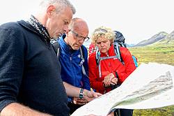 09-07-2014 ISL: Iceland Diabetes Challenge Dag 5, Emstrur<br /> Van Alftavatn naar Emstrur / Edwin Zanen, Wim in 't Veld, Sandra Ciere-Koolhaas