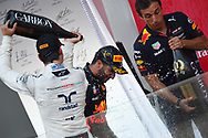 Daniel Ricciardo of Red Bull and Lance Stroll of Williams Martin on the podium of the Azerbaijan Formula One Grand Prix at Baku City Circuit, Baku<br /> Picture by EXPA Pictures/Focus Images Ltd 07814482222<br /> 25/06/2017<br /> *** UK &amp; IRELAND ONLY ***<br /> <br /> EXPA-EIB-170625-0062.jpg