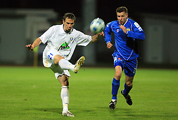 Ales Kacicnik and Joze Benko at 30th Round of Slovenian First League football match between NK Domzale and NK MIK CM Celje in Sports park Domzale, on April 25, 2009, in Domzale, Slovenia. Celje won 3:0. (Photo by Vid Ponikvar / Sportida)