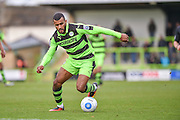 Forest Green Rovers Defender, Dan Wishart (17) during the Vanarama National League match between Forest Green Rovers and Lincoln City at the New Lawn, Forest Green, United Kingdom on 19 November 2016. Photo by Adam Rivers.