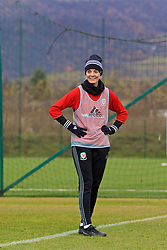 ZENICA, BOSNIA AND HERZEGOVINA - Monday, November 27, 2017: Wales' captain Sophie Ingle during a training session ahead of the FIFA Women's World Cup 2019 Qualifying Round Group 1 match against Bosnia and Herzegovina at the FF BH Football Training Centre. (Pic by David Rawcliffe/Propaganda)