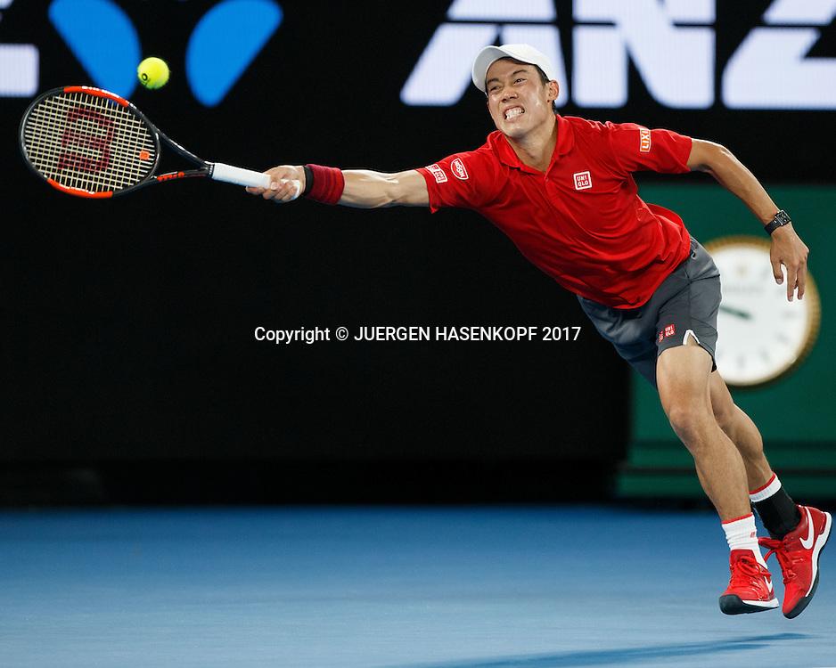 KEI NISHIKORI (JPN)<br /> <br /> Australian Open 2017 -  Melbourne  Park - Melbourne - Victoria - Australia  - 22/01/2017.