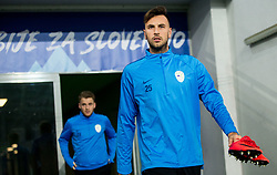Amir Dervisevic during practice session of Team Slovenia 1 day before UEFA Nations League match against Norway, on November 15, 2018 in SRC Stozice, Ljubljana, Slovenia. Photo by Vid Ponikvar / Sportida