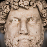 Portrait head of Ailius Verus (?) from the 2nd century AD. Ailius Verus was Caesar, adopted as emperor Hadrian's heir. He died too soon to succeed him. The Stoa of Attalos is a 1950s recreation of a long pavilion that was originally built around 150 BC. It was part of the Ancient Agora (market). It now houses the Museum of the Ancient Agora, which includes clay, bronze and glass objects, sculptures, coins and inscriptions from the 7th to the 5th century BC, as well as pottery of the Byzantine period and the Turkish conquest.