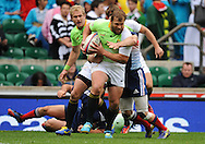 LONDON, ENGLAND - Saturday 10 May 2014, Frankie Horne of South Africa during the match between South Africa and France at the Marriott London Sevens rugby tournament being held at Twickenham Rugby Stadium in London as part of the HSBC Sevens World Series.<br /> Photo by Roger Sedres/ImageSA