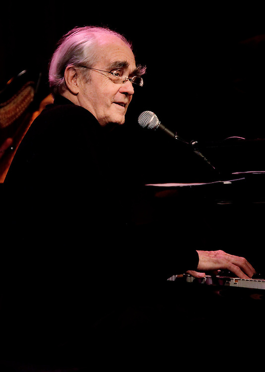 Musician Michel Legrand performs at the Birdland Jazz Club on March 4, 2009 in New York City. photo by Joe Kohen for The New York Times