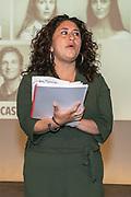 2019, June 04. JvE Studio, Almere, The Netherlands. Daphne Groot at the press presentation of Mammoet.