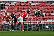 Own goal scored by Middlesbrough defender George Friend (3)  during the EFL Sky Bet Championship match between Middlesbrough and Derby County at the Riverside Stadium, Middlesbrough, England on 27 October 2018.