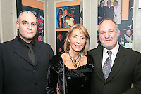 Jonathan, Diana and Harvey Goldsmith CBE