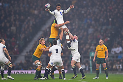 November 18, 2017 - London, England, United Kingdom - England's Courtney Lawes during Old Mutual Wealth Series between England against Argentina at Twickenham stadium , London on 11 Nov 2017  (Credit Image: © Kieran Galvin/NurPhoto via ZUMA Press)