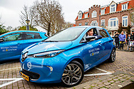 UTRECHT - King Willem-Alexander at the launch of a new energy and mobility system, developed by joint venture We Drive Solar and Renault. robin utrecht