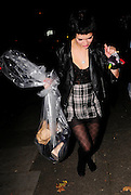 16.09.2008. LONDON<br /> <br /> PIXIE GELDOF LEAVING BUNGALO 8 CLUB AFTER CELEBRATING HER BIRTHDAY. ONCE SHE ARRIVED BACK HOME SHE REALISED SHE LEFT HER BACK AT THE CLUB AND RETURNED WITH A LARGE PLASTIC BAG FULL OF CLOTHES.<br /> <br /> BYLINE: EDBIMAGEARCHIVE.CO.UK<br /> <br /> *THIS IMAGE IS STRICTLY FOR UK NEWSPAPERS AND MAGAZINES ONLY*<br /> *FOR WORLD WIDE SALES AND WEB USE PLEASE CONTACT EDBIMAGEARCHIVE - 0208 954 5968*