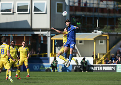 Ed Upson of Bristol Rovers and Anthony Wordsworth of AFC Wimbledon challenge for a header - Mandatory by-line: Arron Gent/JMP - 19/04/2019 - FOOTBALL - Cherry Red Records Stadium - Kingston upon Thames, England - AFC Wimbledon v Bristol Rovers - Sky Bet League One