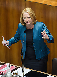 03.07.2013, Parlament, Wien, AUT, Parlament, 213. Nationalratssitzung, Sitzung des Nationalrates. im Bild Bundesministerin fuer Verkehr, Innovation und Technologie Doris Bures // Minister of transport, innovation and technology Doris Bures during the 213th meeting of the national assembly of austria, austrian parliament, Vienna, Austria on 2013/07/03, EXPA Pictures © 2013, PhotoCredit: EXPA/ Michael Gruber
