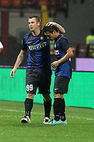"""Antonio Cassano Yuto Nagatomo Inter<br /> Milano 30/09/2012 Stadio """"San Siro""""<br /> Football Calcio Serie A 2012/13<br /> Inter v Fiorentina<br /> Foto Insidefoto Paolo Nucci"""