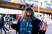 Jacksonville Jaguars fans arrive at Wembley during the International Series match between Jacksonville Jaguars and Philadelphia Eagles at Wembley Stadium, London, England on 28 October 2018.