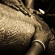 Tattoo at the Bang Phra Temple East from Bangkok, Thailand.