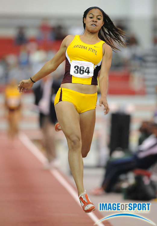 Mar 14, 2008; Fayetteville, AR, USA; Stephanie Garnett of Arizona State was sixth in the women's long jump at 20-8 (6.30m) in the NCAA indoor track and field championships at the Randal Tyson Center.