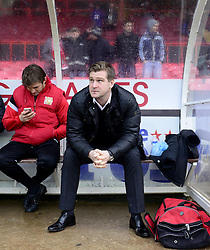 Milton Keynes Dons Manager, Karl Robinson before the game - Photo mandatory by-line: Joe Meredith/JMP - Tel: Mobile: 07966 386802 18/01/2014 - SPORT - FOOTBALL - Ashton Gate - Bristol - Bristol City v MK Dons - Sky Bet League One