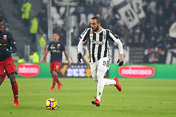 December 20, 2017 - Turin, Piedmont, Italy - Gonzalo Higuain (Juventus FC) during the Italian Cup football match between Juventus FC and Geona CFC at Allianz Stadium on 20 December, 2017 in Turin, Italy. ..Juventus won 2-0 over Genoa. (Credit Image: © Massimiliano Ferraro/NurPhoto via ZUMA Press)