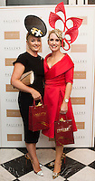 30/07/2015 report free :    Deirdre Travers (runner up) and Tara Mc Grath, Tuam Co. Galway Winner at the 4 star Hotel Meyrick's Most Stylish Lady competition, and John Faller Faller's  for Ladies Day Galway Race week 2015, Judges were by leading Irish Model Rozanna Purcell,  Mandy Maher Catwalk Models and Mary Lee , Model The winners received an amazing €2,000 prize package from Fallers of Galway . Photo:Andrew Downes, xposure