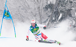 Elia Zurbriggen of Switzerland during 1st run of Men's Giant Slalom race of FIS Alpine Ski World Cup 57th Vitranc Cup 2018, on 3.3.2018 in Podkoren, Kranjska gora, Slovenia. Photo by Urban Meglič / Sportida