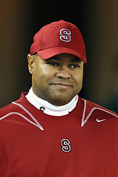 Nov 19, 2011; Stanford CA, USA;  Stanford Cardinal head coach David Shaw enters the field before the game against the California Golden Bears at Stanford Stadium.  Mandatory Credit: Jason O. Watson-US PRESSWIRE