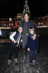 ELIZABETH SALTZMAN and her sons,right HARRY and left CHARLIE at a Winter Party given by Tiffany & Co. Europe to launch the 10th season of Somerset House's Ice Skating Rink at Somerset House, The  Strand, London on 16th November 2009.