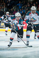 KELOWNA, CANADA - DECEMBER 17: Rourke Chartier #14 of Kelowna Rockets skates against the Kamloops Blazers on December 27, 2014 at Prospera Place in Kelowna, British Columbia, Canada.  (Photo by Marissa Baecker/Shoot the Breeze)  *** Local Caption *** Rourke Chartier;