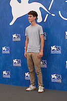 Loic Batog at the Home film photocall at the 73rd Venice Film Festival, Sala Grande on Saturday September 3rd 2016, Venice Lido, Italy.