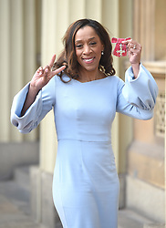December 20, 2018 - London, London, United Kingdom - Image licensed to i-Images Picture Agency. 20/12/2018. London, United Kingdom. Diane Modahl with her award after an Investiture at Buckingham Palace in London. (Credit Image: © Pool/i-Images via ZUMA Press)