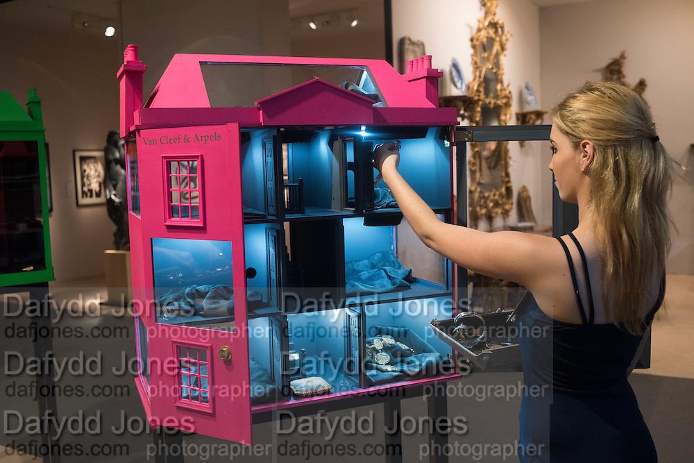 HANNAH FAGERSTROM-DAY, The LAPADA Art & Antiques Fair - private view, Berkeley Sq. London. 12  September 2016