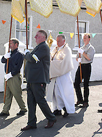 Religious procession in Cork Ireland image for editorial use only