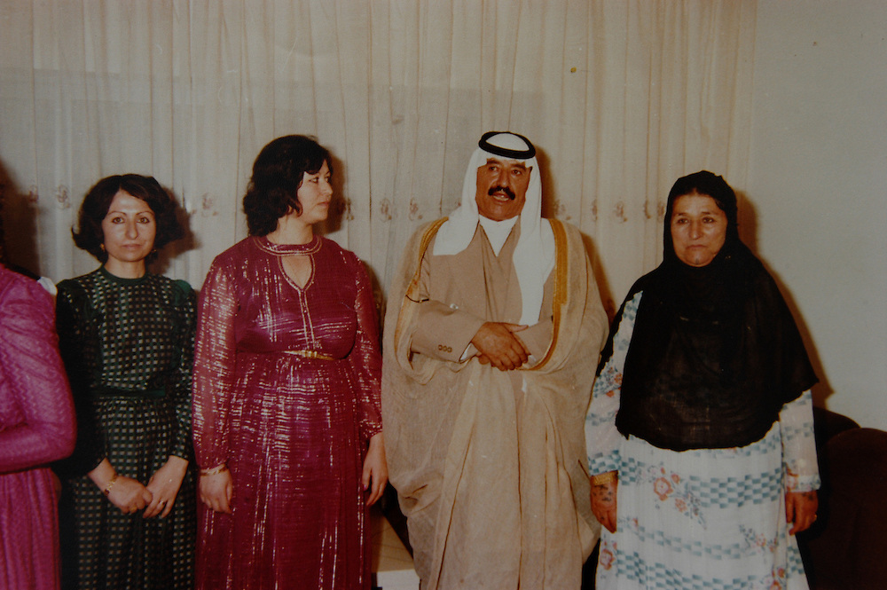 A family photo of Kamel Hassan al-Majid and his wife (right) as well as their daughter Khalisa (in green dress). Kamel Hassan al-Majid was a cousin of Saddam Hussein, the brother of Ali Hassan al-Majid (Chemical Ali) and the father of Hussein and Saddam Kamel, Saddam Hussein's sons-in-law. They were all killed Khalisa's house, along with 15 members of their family, by Saddam Hussein when Hussein and Saddam Kamel returned to Iraq after fleeing to Jordon with Saddam's daughters Raghd and Rana.    .Baghdad, Iraq. 30 May 2003..Photo © J.B. Russell