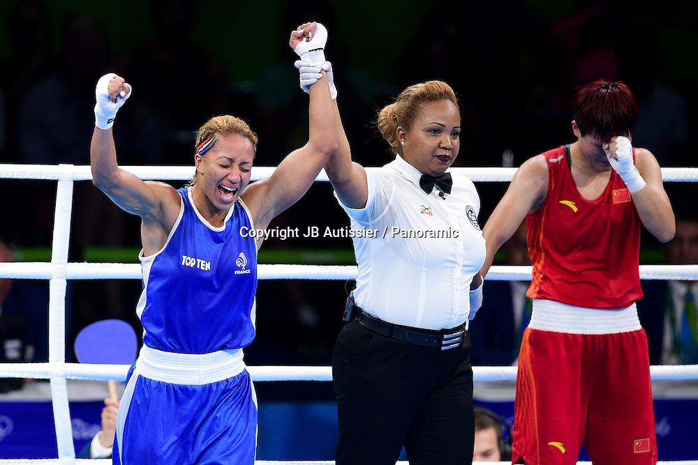 joie de MOSSELY Estelle (fra - bleu) vs YIN Junhua (chn - rouge) - finale femme poids leger 57/60kg