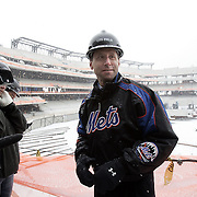 Flushing, NY / 2009 - Jeff Wilpon, chief operating officer of the New York Mets, talks to the media during a press tour of the team's new baseball stadium - Citi Field - which is under construction adjacent to the team's current field - Shea Stadium - in Flushing, NY on Feb. 12, 2008.  According to team officials, the new structure will utilize 12,500 tons of steel and 1.2 million bricks in creating the facility, which is scheduled to open in 2009.  ( Mike Roy / The Journal News )