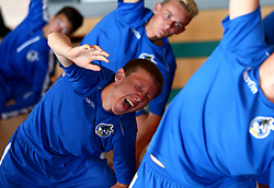 Jordan Carey of Bristol Rovers Academy takes part in a yoga session at training - Mandatory by-line: Robbie Stephenson/JMP - 13/07/2017 - FOOTBALL - Yate Outdoor Sports Complex - Yate, England - Bristol Rovers Youth Team Portraits