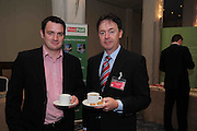 Simon Murray, universal Graphics,  and  Gerard O Neill Amárach Research speakers at the An Post Driving Success Roadshow at the Radisson Hotel, Galway. The event focused on practical and creative marketing techniques and saw attendees gain valuable insights into successful campaigns from leading marketing experts. Broadcaster Matt Cooper was MC at the event. .Photo:Andrew Downes
