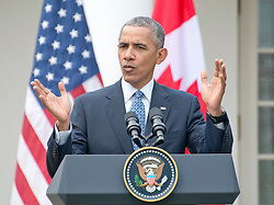 United States President Barack Obama holds a joint press conference with Prime Minister Justin Trudeau of Canada in the Rose Garden of the White House in Washington, DC on Thursday, March 10, 2016. EXPA Pictures © 2016, PhotoCredit: EXPA/ Photoshot/ Ron Sachs<br /> <br /> *****ATTENTION - for AUT, SLO, CRO, SRB, BIH, MAZ, SUI only*****