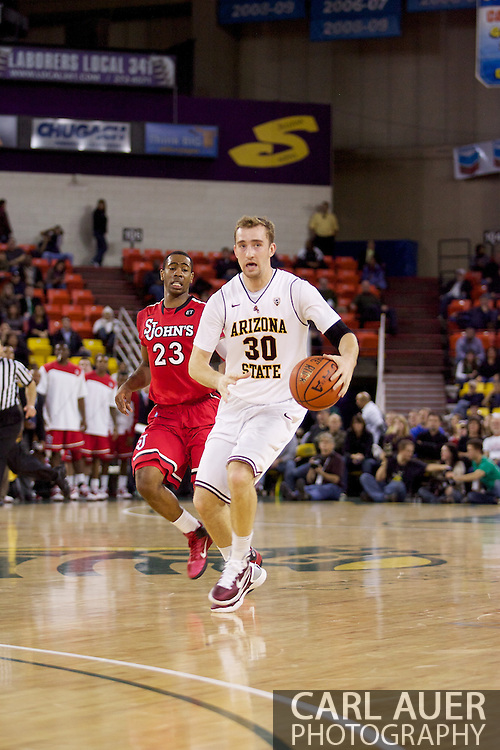 November 27th, 2010:  Anchorage, Alaska - Arizona State's Rihards Kuksiks (30) in the Sun Devil's 58-67 loss to St. Johns in the championship game of the Great Alaska Shootout.