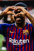 Malcom Filipe from Brasil during the Joan Gamper trophy game between FC Barcelona and CA Boca Juniors in Camp Nou Stadium at Barcelona, on 15 of August of 2018, Spain, Photo Xavier Bonilla / SpainProSportsImages / DPPI / ProSportsImages / DPPI